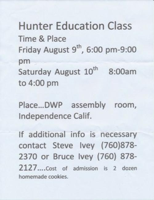 Take a Hunter Education Class in Independence and Feel the Independence